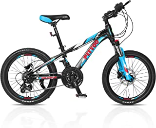 FITTOO Xcool 20'' Unisex Mountain Bike - 18 Speed - Aluminum Frame - Lightweight - 4 Colour Options