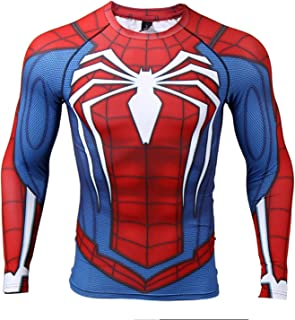 Raglan Sleeve Spiderman 3D Printed T Shirts Men Compression Shirts