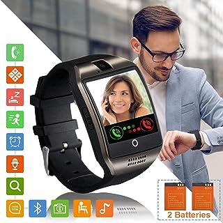 Tipmant Reloj Inteligente Mujer Hombre Smartwatch Pantalla táctil con Ranura para Tarjeta SIM Cámara Podómetro Moviles Buenos Pulsera de Actividad para Android Xiaomi Samsung Huawei (Negro)