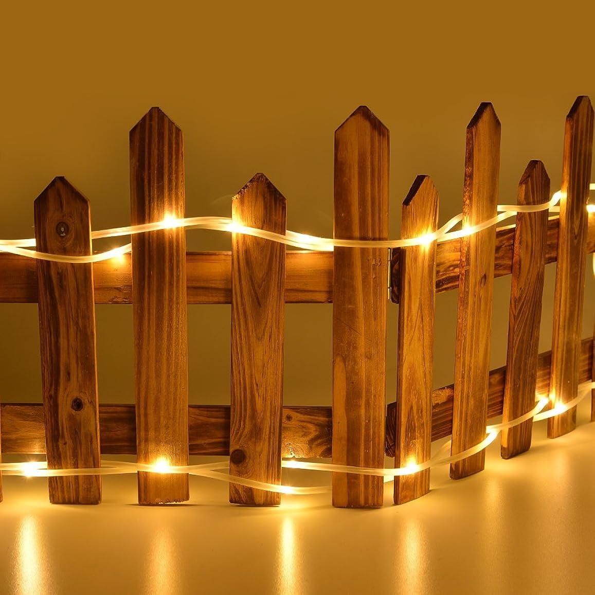 インセンティブ焼くビルダーAGPtek 10m/100LED ロープライト USB給電式 8種類の点滅モデル 防水国際基準防水IP67 結婚式、学園祭、誕生会、ハロウィーン、クリスマスパーティー、などイベント大活躍 コントローラ付き (ウォームホワイト(電球色)