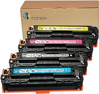 J-C Toner Compatible Toner Cartridge Replacement for HP 125A ( Black , 4-Pack )