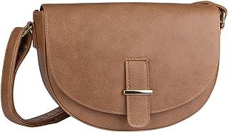 SIX Taschen, Umhänge Sattel Tasche, Lederoptik, braun (726-404)