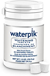 Waterpik Whitening Water Flosser Refill Tablets (Only compatible with Waterpik Whitening Flosser), 30 Count
