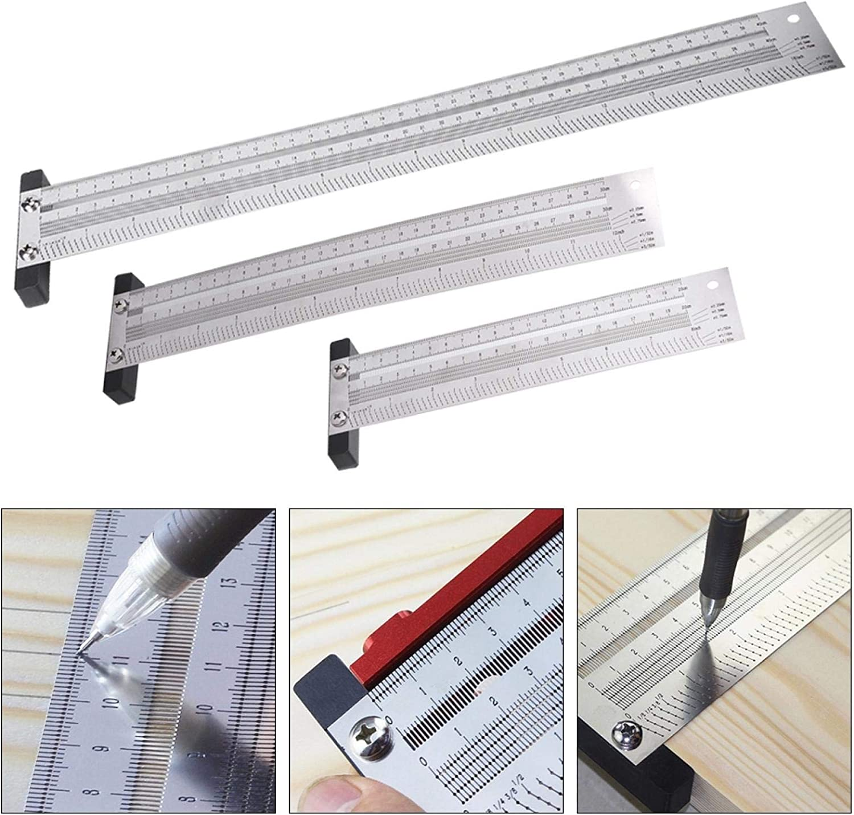 Ultra Precision Marking Ruler Scribing Ruler Woodworking Scriber T ...