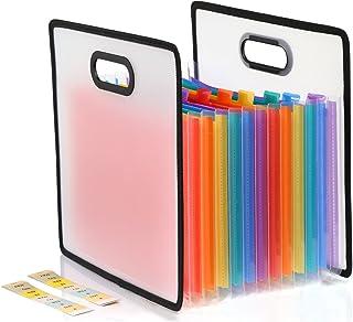 Kesote 12 poches Expanding File Folder Organiseur Portable Multicolor Business Sac avec marqueur étiquettes Trieur à Souff...
