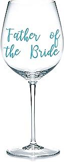 'Father of the Bride' Decalcomanie adesive in vinile, adesivi per bicchieri, tazze, cancelleria. Vino, birra. Regalo di ma...
