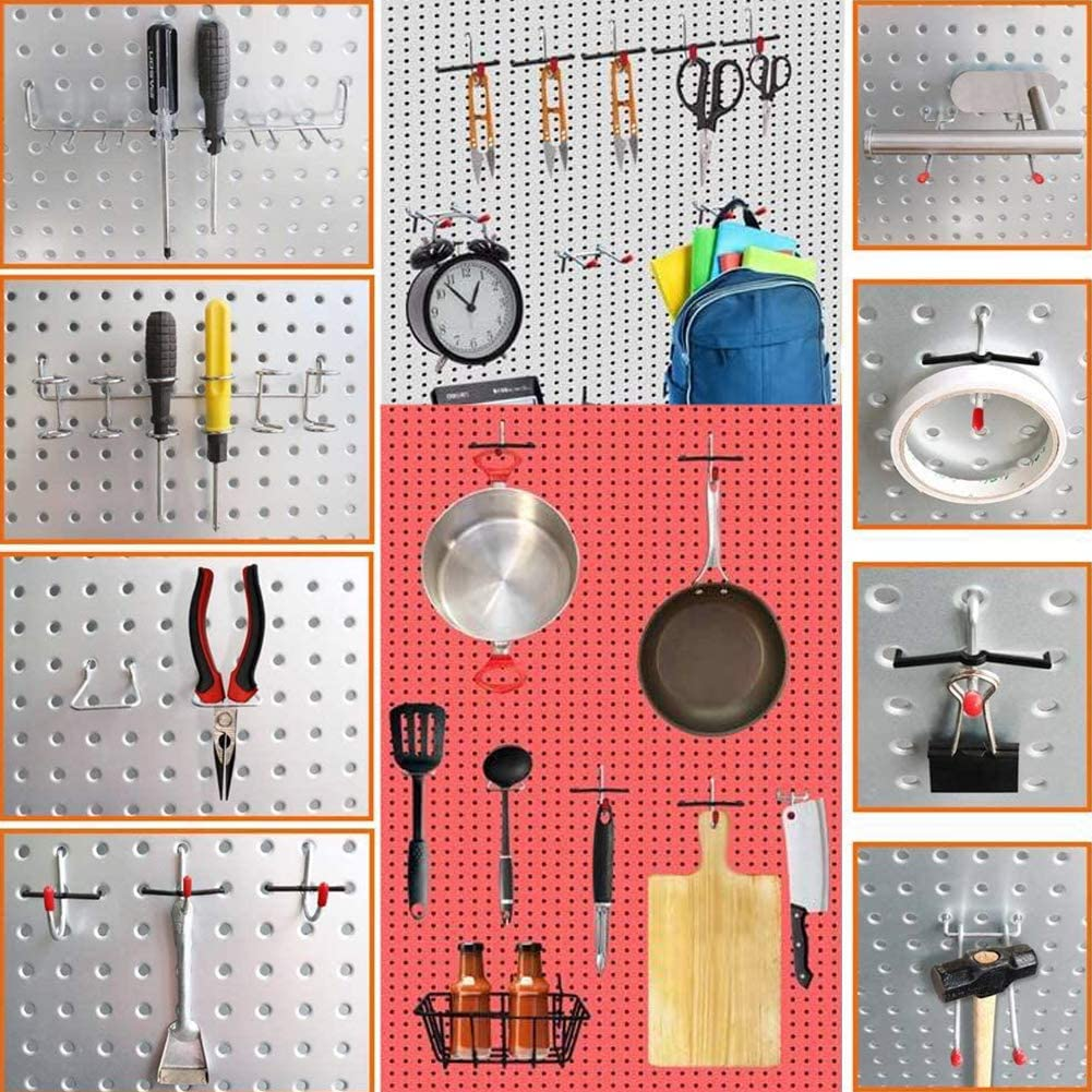 BLACK Pegboard Bins Pegboard Bins 248PCS Pegboard Accessories Organizer Kit Metal Hooks for Hanging Storage 1//8 and 1//4 inch Pegboard Hooks Assortment Pegboard Set for Tools