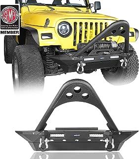 u-Box Stinger Front Bumper w/Winch Plate & 2x18W LED Lighting for 1997-2006 Jeep Wrangler TJ