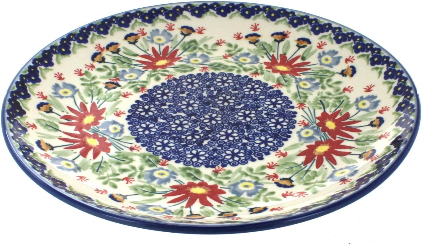 Blue Rose Polish Pottery Jungle Bouquet OFFicial Courier shipping free shipping shop Dinner Plate