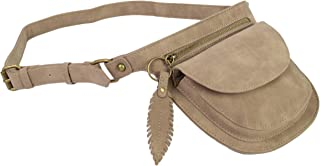 Faux Leather Motorcycle Rider Purses, Side Waist Hip Bag, Two Pocket Fanny Pack