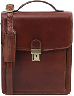 Tuscany Leather David Borsello in pelle a tracolla - Misura grande