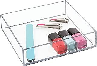 iDesign Clarity Plastic Drawer Organizer, Storage Container for Vanity, Bathroom, Kitchen Drawers, 8