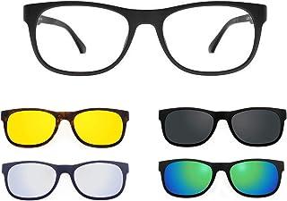 "Ultem 221 Colore M04 BLU OPACO Montatura per occhiali da vista e sole con 4 CLIPON Original /""99 John St NYC/"" Genere UNISEX"
