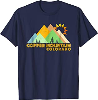 Retro Vintage Copper Mountain T-Shirt-Distressed Shirt