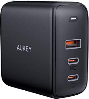 AUKEY(オーキー)90W USB-C 3ポート急速充電器【PSE認証済/Power Delivery3.0対応/折畳式プラグ/安全保護機能搭載】iPhone/iPad/Galaxy S9 / Xperia XZ1,その他Android各種対...