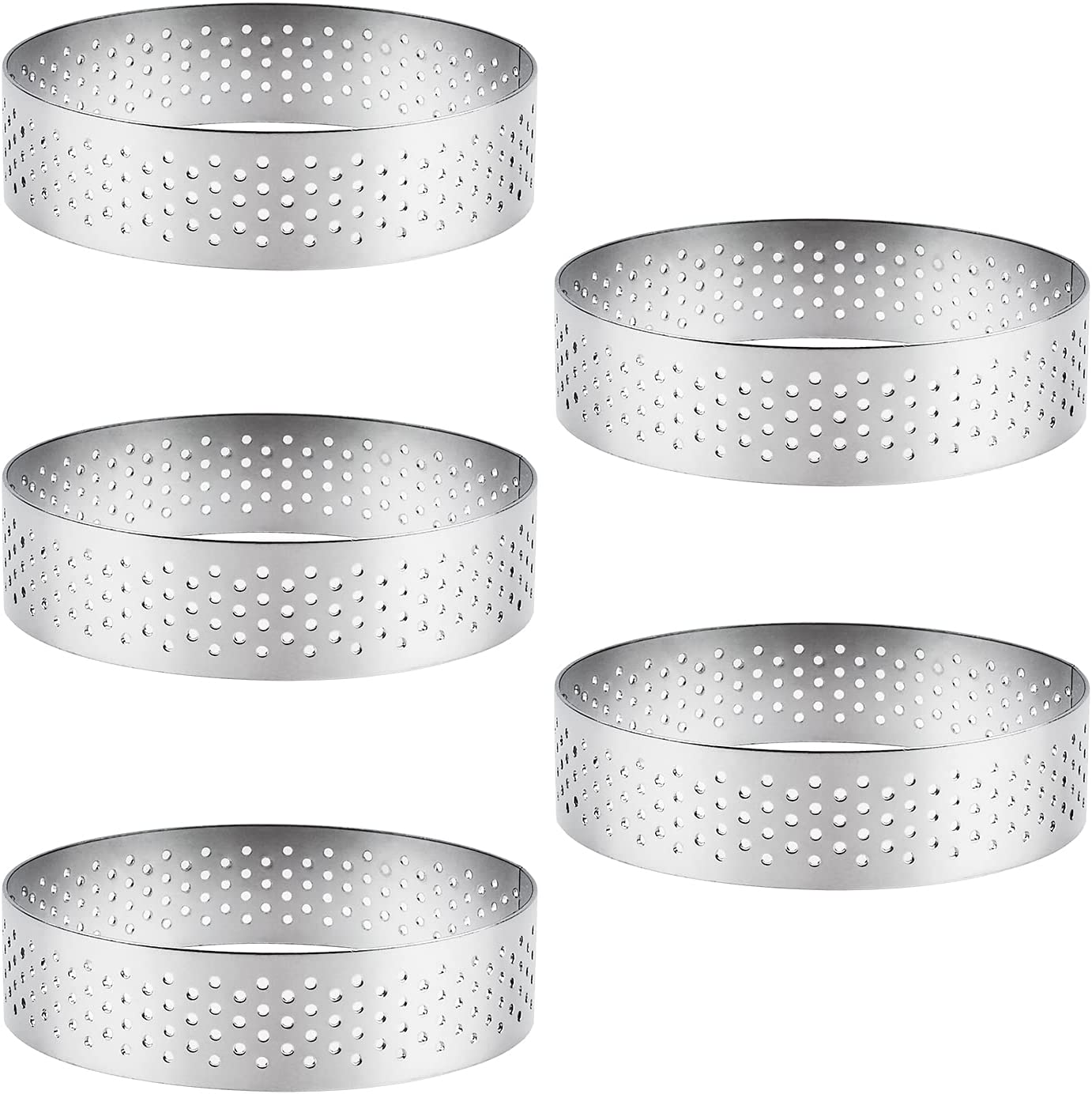 CRAFFANCY 5Pcs Stainless Steel Over item handling ☆ Mousse Molds Cake Selling Mol Ring Round