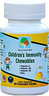 Kids Vitamin C and Immune Support - Vitamin C, D and Zinc for Kids, Toddler Multivitamins