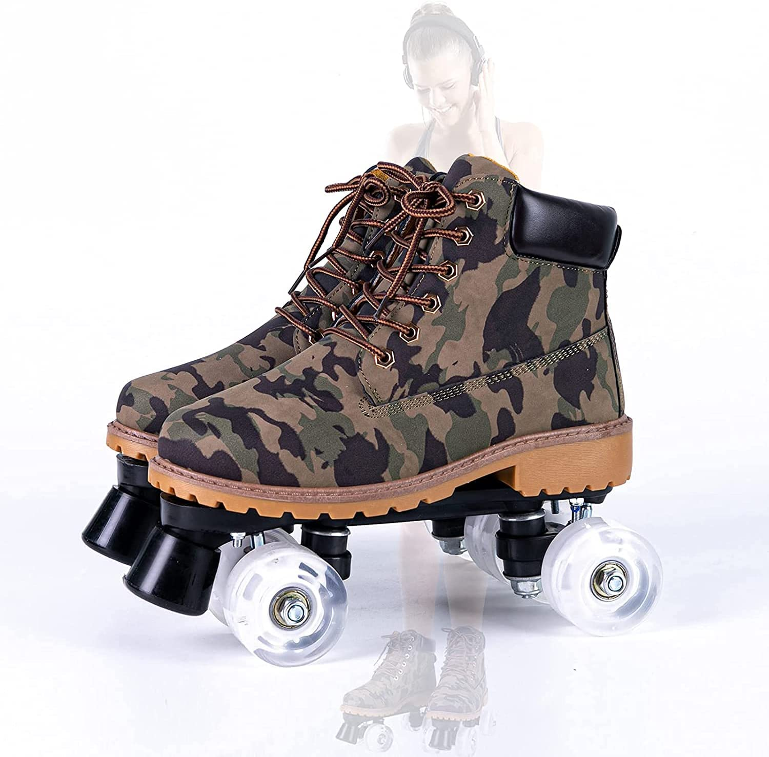 ADSHCEI 5 ☆ popular Roller Skating Shoes are for General Translated Suitable Double-Row