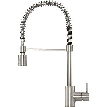 Gerber Dh450188bs Foodie Single Handle Pre Rinse Kitchen Faucet Satin Black Amazon Com