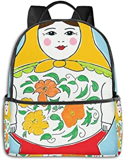 Matryoshka Russian Doll Daypack With Side Pockets, Travel And Sport Backpack Rucksack Large Capacity College School Bookbag Anti-Theft Multipurpose for Girls Boys