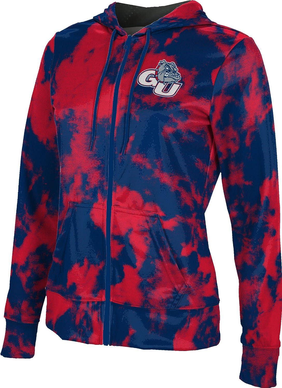 ProSphere Gonzaga University Girls' Zipper Hoodie, School Spirit Sweatshirt (Grunge)