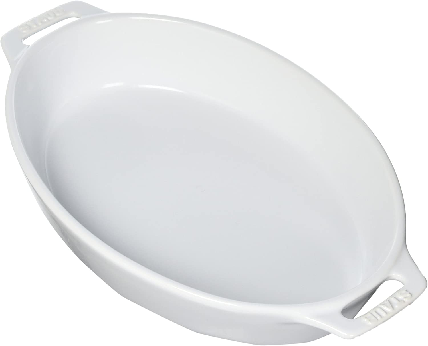Staub 40508-608 Ceramics Oval Baking Dish, 11-inch, White