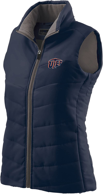 NCAA Texas El Paso Miners Women's Navy Admire Large Boston Mall Vest Translated