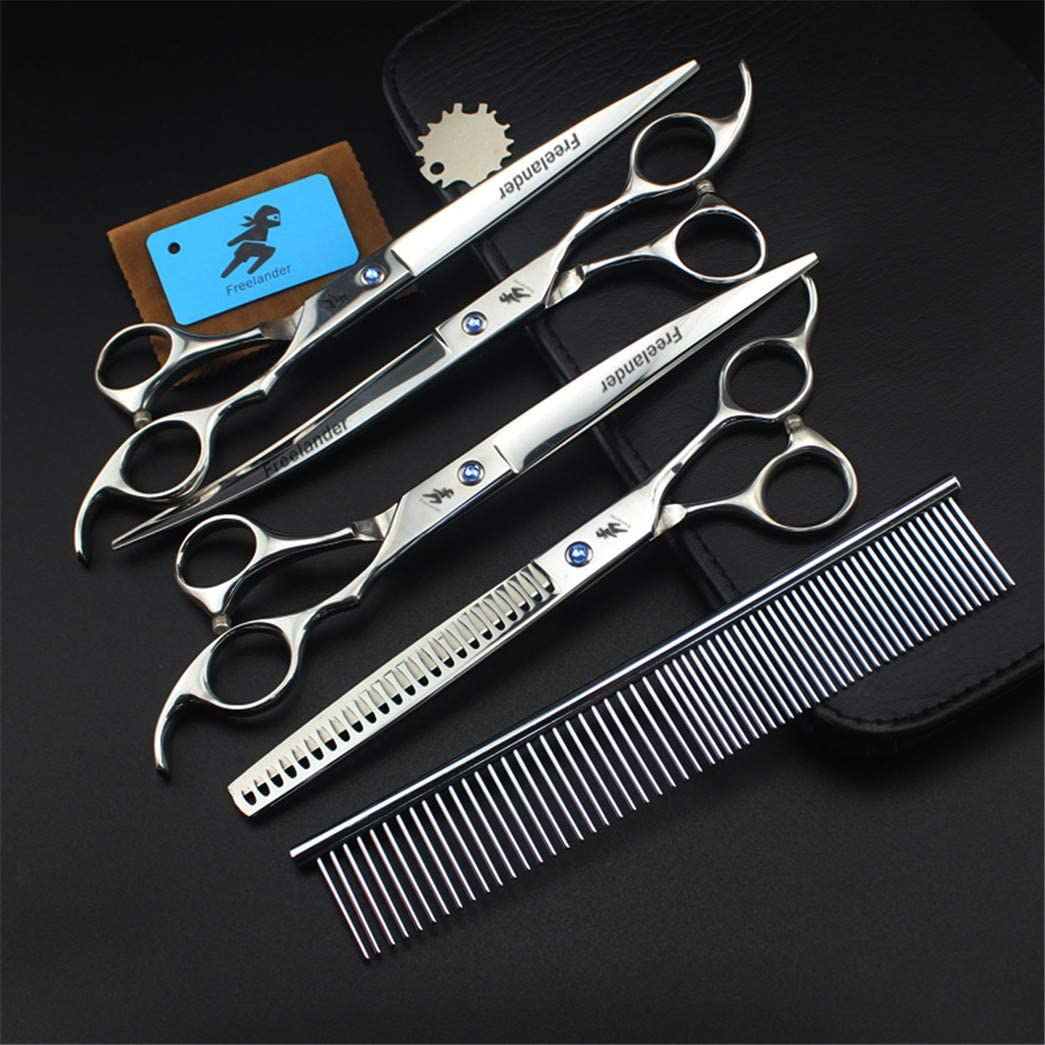 ZZBB Rare 8.0 Inch Japanese Steel New product!! Pet Scissors Grooming Set Dogs Shar