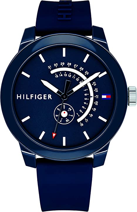 Orologiotommy hilfiger analogico quarzo orologio da polso 1791482 orologio hilfiger