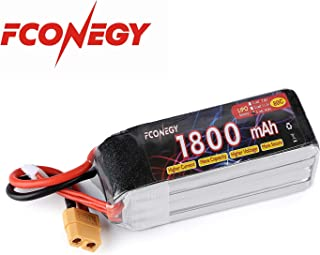 FCONEGY 4S 14.8V 1800mAh 80C Lipo Battery Pack with XT60 Plug for FPV Racing/Drone/Quadcopter/Rc Airplane