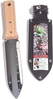 Nisaku NJP640 Hori Weeding & Digging Knife-Double Sharp Edge, Authentic Tomita (Est. 1960) Japanese Stainless Steel, 7.25