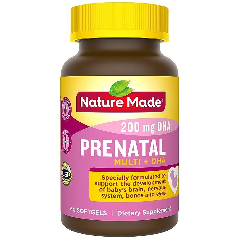 歌う大洪水怠惰Nature Made® - Prenatal Multi + DHA - 60 ??????? 海外直送品