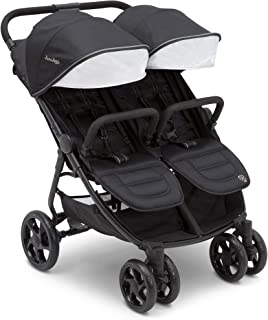 Jeep Destination Ultralight Side x Side Double Stroller, Midnight (Black)