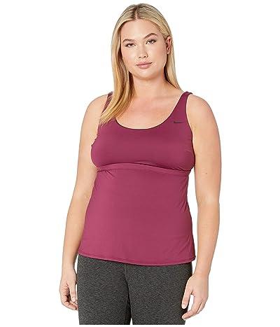 Nike Plus Size Essential Scoop Neck Tankini (Villain Red) Women