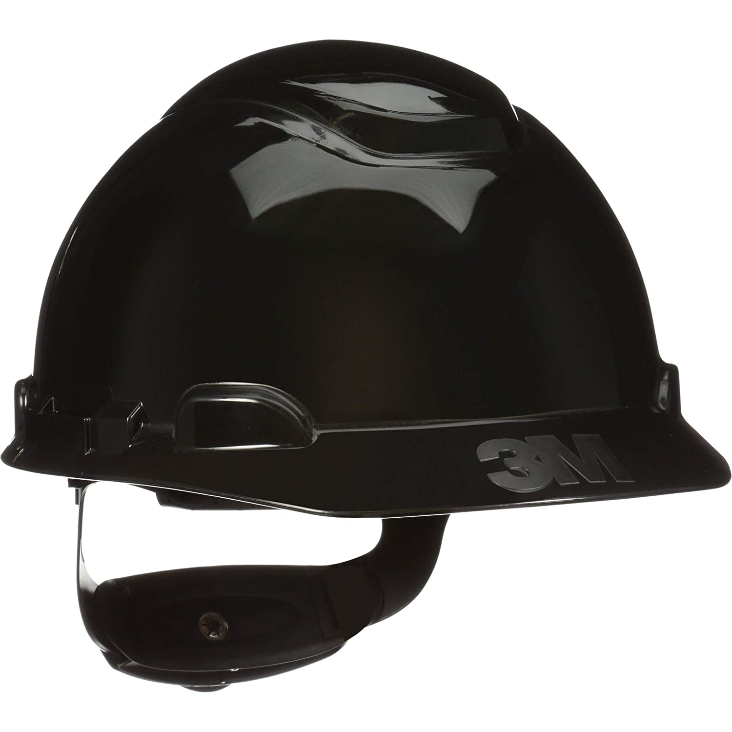 3M Hard Hat Black Lightweight Inexpensive 4-Point Adjustable Ratc Max 79% OFF Vented