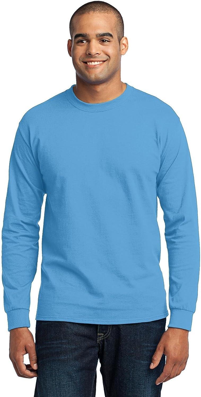 Port & Company Men's Tall Long Sleeve 50/50 Cotton/Poly T 2XLT Aquatic Blue