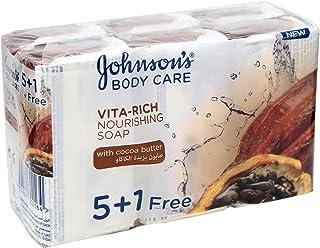Johnson's Vita Rich Nourishing Soap with Cocoa Butter, 6 Pcs - 750 gm