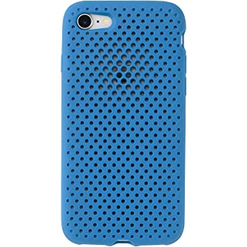 AndMesh iPhone8 iPhone7 ケース Mesh Case シンプル 放熱 軽量 耐衝撃 Qi対応 コバルトブルー 612-959902