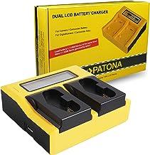 PATONA LCD Cargador Doble para LP-E4, LP-E19 Bateria Compatible con Canon EOS 1D / 1DS Mark III, 1D Mark IV, 1DX Mark II, 1DX