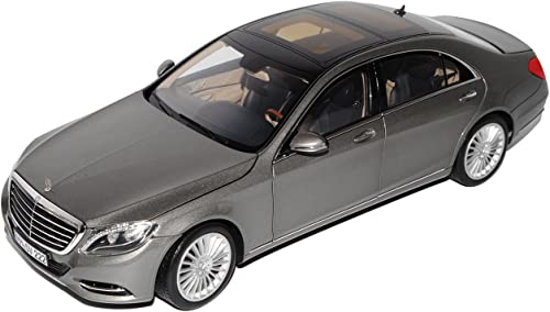 Norev Mercedes-Benz S-Klasse W222 Silber Grau Metallic Limousine Ab 2013 1 18 Modell Auto mit individiuellem Wunschkennzeichen