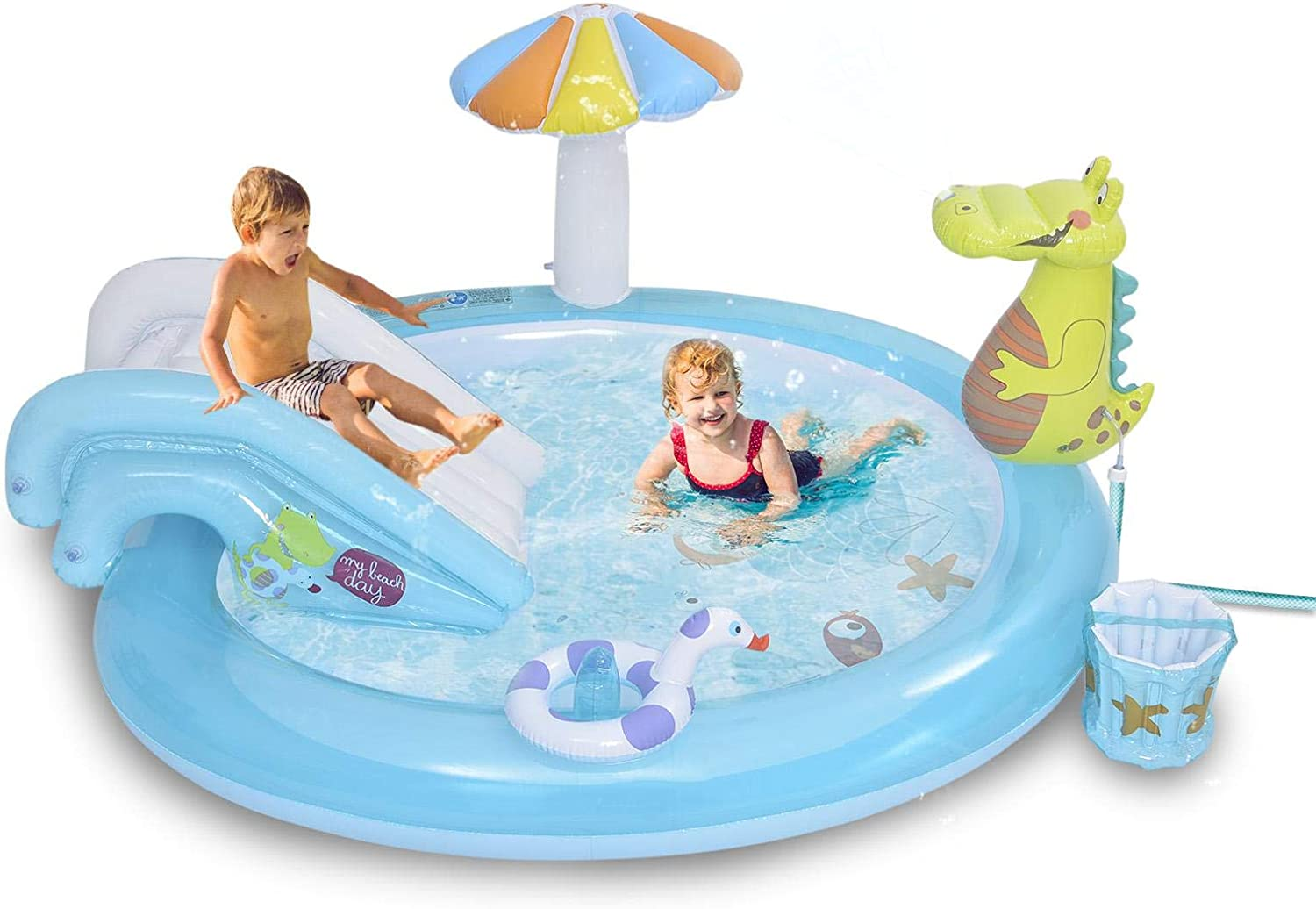 Blow Up Pool Swimming NEW before selling ☆ Play Inflatable Kid Center C Fun mart