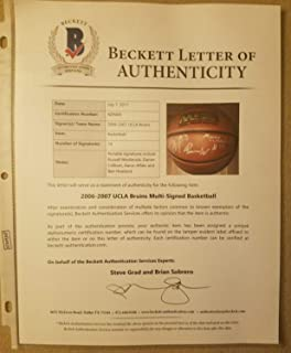 Russell Westbrook Ucla 2006-07 Team Autographed Signed Memorabilia Ball - Beckett Authentic