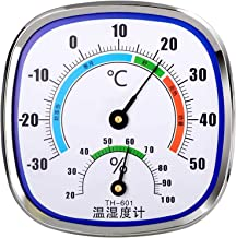 William-Lee Termómetro analógico, higrómetro, medidor de humedad y temperatura