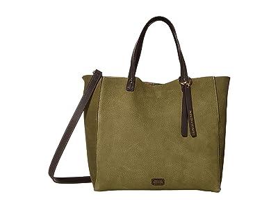 Frances Valentine Margaret Tote (Olive/Chocolate) Handbags