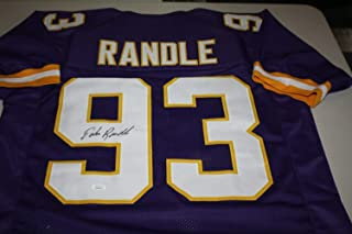 Authentic Autographed John Randle Minnesota Vikings #93 Home Jersey HOF 2010 NFL Top 100 JSA