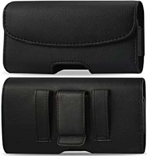 Golden Sheeps Carrying Belt Case for Alcatel GO FLIP, Alcatel ATT Cingular Flip 2, Alcatel QuickFlip, Alcatel MyFlip Horizontal Leather Carrying Case with Belt Clip and Belt Loops[4.3