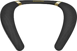 Monster Boomerang Altavoz Bluetooth con banda para el cuello, ligero altavoz inalámbrico portátil con tiempo de reproducción 12H, sonido estéreo 3D, portátil e IPX7 impermeable, ideal para el hogar y al aire libre