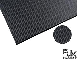RJXHOBBY 500X400 3K Carbon Fiber Plate Panel Sheet 0.5-10mm Thickness (Cross Grain, Matte Surface)