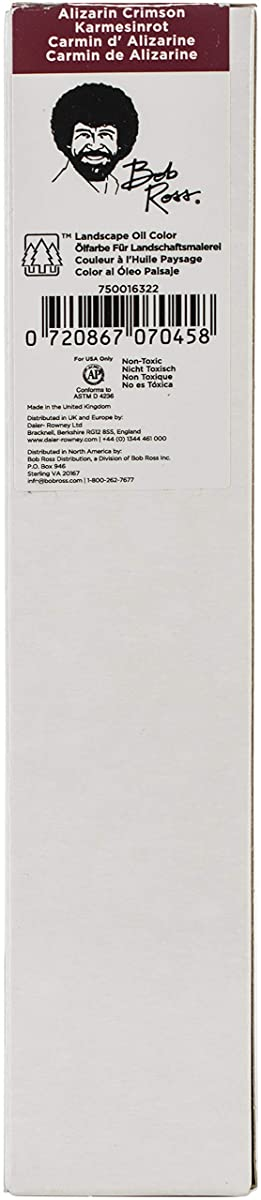 Bob Ross BR200ML-16322 Oil Paint 200ml-Alizarin Crimson, Alizarin