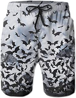 Fashion Beach Shorts with Pockets Yt92Pl@00 Mens 100/% Polyester Bat Swim Trunks